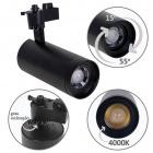 Track Spotlights ARGOS 1x30W LED 4000K L.17xxD.8cm Black