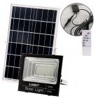 Proyector Solar NAVARRE IP65 1x100W LED 2400lm 6500K L.28,5xAn.9xAl.25,5cm Negro