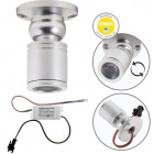 Orientable Spotlight MELVIN round 1W LED 70lm 3000K H.4xD.3cm Satin Nickel