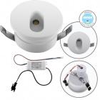 Downlight DIRAME round fixed IP65 1W LED 60lm 4000K H.0,4xD.4,5cm White