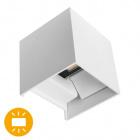 Aplique SOR IP67 2x3W LED 500lm 3000K L.10xAn.10xAl.10cm Blanco