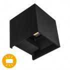 Aplique SOR IP67 2x3W LED 500lm 4000K L.10xAn.10xAl.10cm Negro