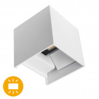Aplique SOR IP67 2x5W LED 800lm 6500K L.10xAn.10xAl.10cm Blanco