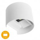 Aplique SALAS IP65 2x3W LED 500lm 3000K L.14xAn.12xAl.10cm Blanco