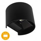 Aplique SALAS IP65 2x3W LED 500lm 6000K L.14xAn.12xAl.10cm Negro