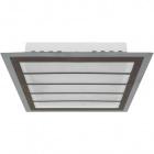 Plafond DRESDEN square 24W LED 3000K Brown/Chrome