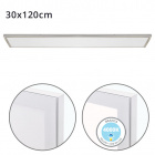 Surface Mounted Panel VOLTAIRE 30x120 72W LED 5760lm 4000K 120° W.120xW.30xH.2,3cm Nickel