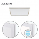 Surface Mounted Panel VOLTAIRE 30x30 24W LED 1920lm 4000K 120° W.30xW.30xH.2,3cm Nickel