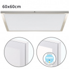 Surface Mounted Panel VOLTAIRE 50x50 48W LED 3840lm 4000K 120° W.50xW.50xH.2,3cm Nickel