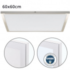 Surface Mounted Panel VOLTAIRE 60x60 48W LED 3840lm 6400K 120° W.60xW.60xH.2,3cm Nickel