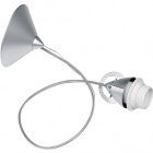 Pendant Light SUSP with steel wire 1xE27 H.Reg.xD.11,5cm Silver