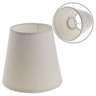 Lampshade CIPRIOTA round & conic fabric PVC8886 with fitting E27 H.14xD.15cm Natural (Raw)