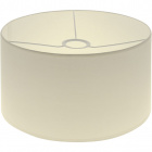 Lampshade CIPRIOTA round fabric PVC802 with fitting E27 H.17xD.30cm Beije
