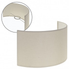 Lampshade CIPRIOTA round fabric PVC8886 with fitting E27 L.30xW.14xH.17cm Natural (Raw)
