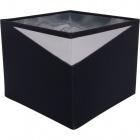 Lampshade DIAGONAL square small with fitting E14 L.16xW.16xH.13cm Black/Silver