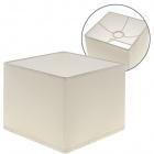 Abat-jour ESPANHOL quadrado com encaixe E14 C.16xL.16xAlt.13cm Natural (Cru)
