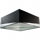 Lampshade DIAGONAL square large with top with fitting E27 L.45xW.45xH.17cm Black/Silver