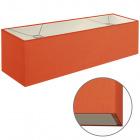 Abat-jour ESPANHOL rectangular com encaixe E14 C.75xL.20xAlt.20cm Laranja