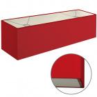 Abat-jour ESPANHOL rectangular com encaixe E14 C.75xL.20xAlt.20cm Vermelho