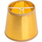 Abat-jour LITUANO redondo cónico pequeno com pinça Alt.10xD.12cm Dourado