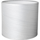 Lampshade ROMENO round fabric Sari with fitting E14 H.14xD.16cm Grey