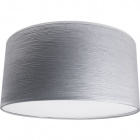 Lampshade ROMENO round with top fabric Sari with fitting E14 H.17xD.50cm Grey