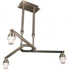 Armazón para Lámpara de Techo DUBAI 3xE14 Al.Reg.xD.46cm Cuero