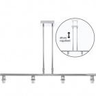 Armazón para Lámpara de Techo SYDNEY 4xE14 L.75xAn.12xAl.Reg.cm Cromo