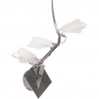 Wall Lamp FOLHAS 3xG4 12V L.40xW.25xH.37cm Glass Grey