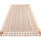 Lampshade POLACO square prism with beads with fitting E27 L.30xW.30xH.23cm Beije