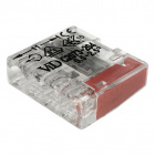 Transparent/red compact screwless connector for rigid cable 4