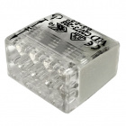 Transparent/grey compact screwless connector for rigid cable 8