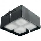 Plafond ROBERTA quadrado 4xE27 C.41xL.41xAlt.21cm Preto/Cromado