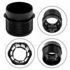 Black half threaded outer shell w/reduced thickness for E27 3-pieces lampholder, thermoplastic resin