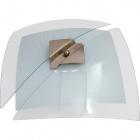 Plafond RESENDE quadrado 2xE27 C.39xL.39xAlt.12cm Transparente