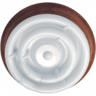 Plafond CIRCE round 1xG10q T9 circ.+1x32WG10q (T9 circ.) H.9xD.36cm Brown/Walnut