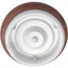 Plafón CIRCE redondo 1xG10q T9 circ. Al.9xD.36cm Marron/Nogueira