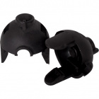 Black dome for E14 2-pieces lampholder for fixing with screw, in thermoplastic resin