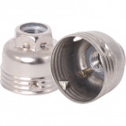Capuchón cincado en metal p/portalámparas E14 de 3p c/racor metalico M10 y tornillo antirotacion