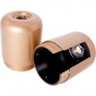 Capuchón dorado de baquelita p/portalámparas E27 de 3 piezas c/interruptor c/ racor M10 y tornillo