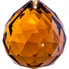 Crystal end stone D.4cm amber