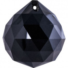 Crystal end stone D.4cm black