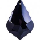 Crystal pendluque 5x3,5cm 1 hole black