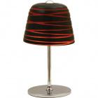 Table Lamp LURDES 1xE27 H.33xD.19cm Red/Black/Chrome