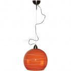 Pendant Light BADAJOZ 1xE27 H.Reg.xD.30cm Orange/Satin Nickel