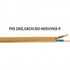 Cable plano H03VVH2-F (FVVD) 2x0,5mm2 dorada