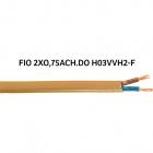 Cable plano H03VVH2-F (FVVD) 2x0,75mm2 dorada