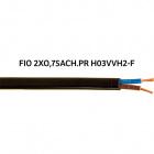 Cable plano H03VVH2-F (FVVD) 2x0,75mm2 negro