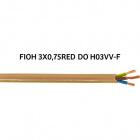 Cable redondo H03VV-F (FVV) 3x0,75mm2 dorada