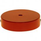 Ceiling rose D.10cm 1 hole 10mm metal orange